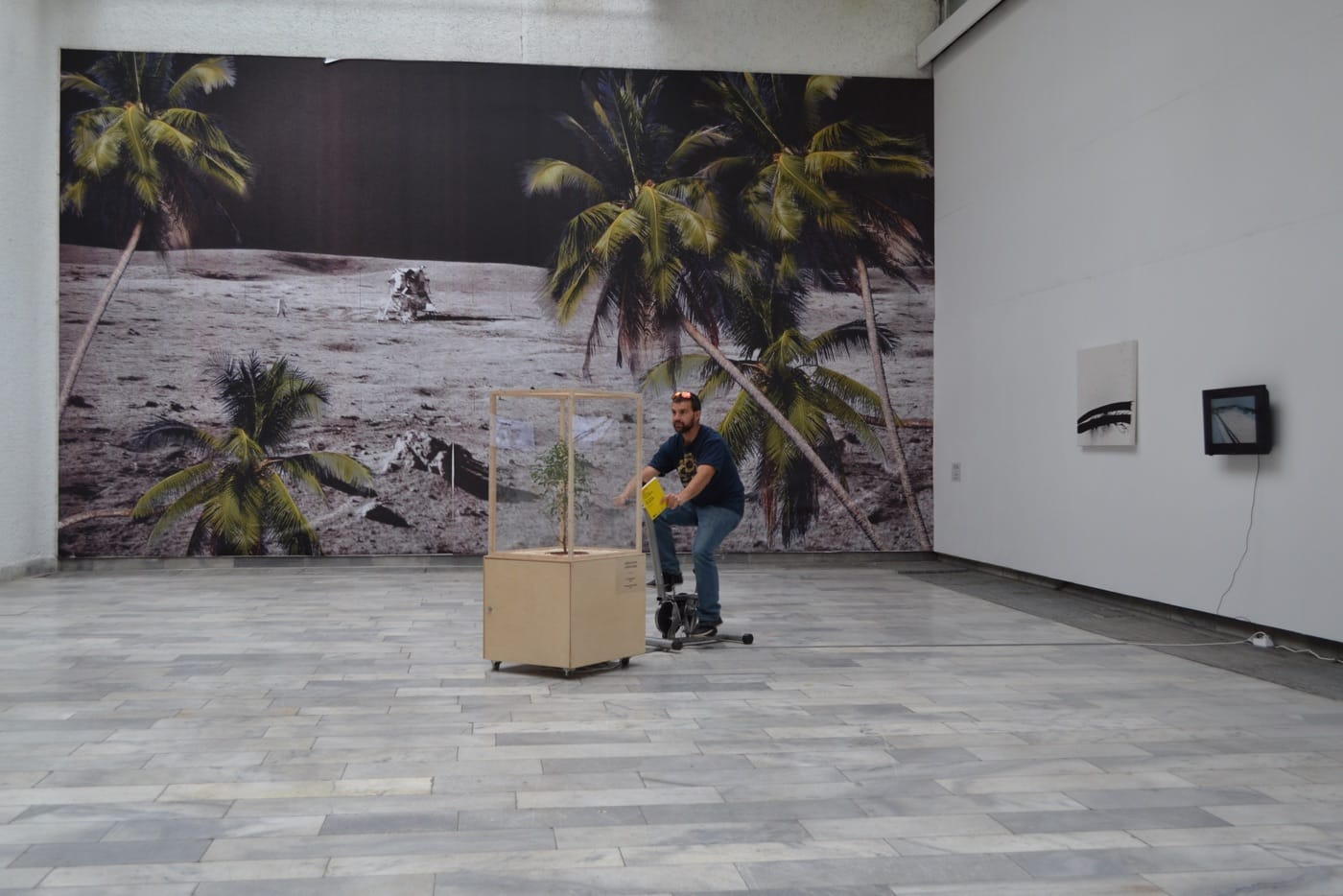 From left to right: Krassimir Terziev, Untitled, Albena Baeva, The Last Benjamin, and Addie Wagenknecht, Black Hawk Paint, at Being Post-digital (2015)