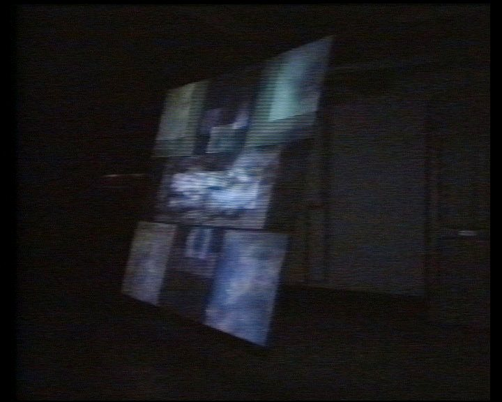 installation view at Het Apollohuis, Eindhoven projection size 210 x 300 cm master-format U-Matic video duration 15 min., looped stereo, colour